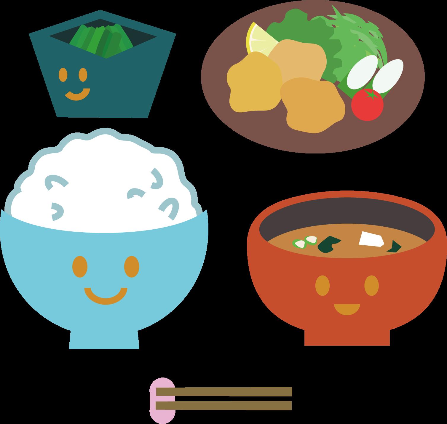 食事イラスト / 食べる・いただきます素材に | 可愛い無料イラスト素材集