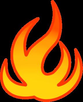 炎のイラスト » 炎のイラスト / 炎マーク、燃えてるたき火、火のマスコット