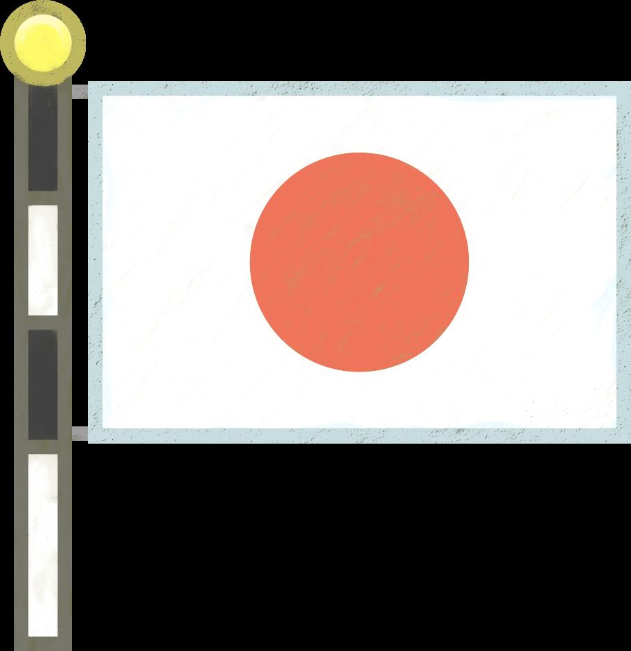 イラスト イラスト 国旗 : ... についている日本国旗、長方形