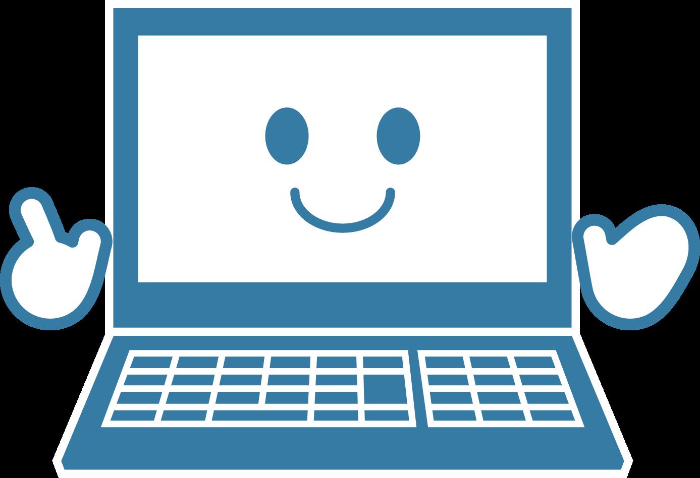 かわいいパソコンイラスト / pc教室マスコットなどに   可愛い無料