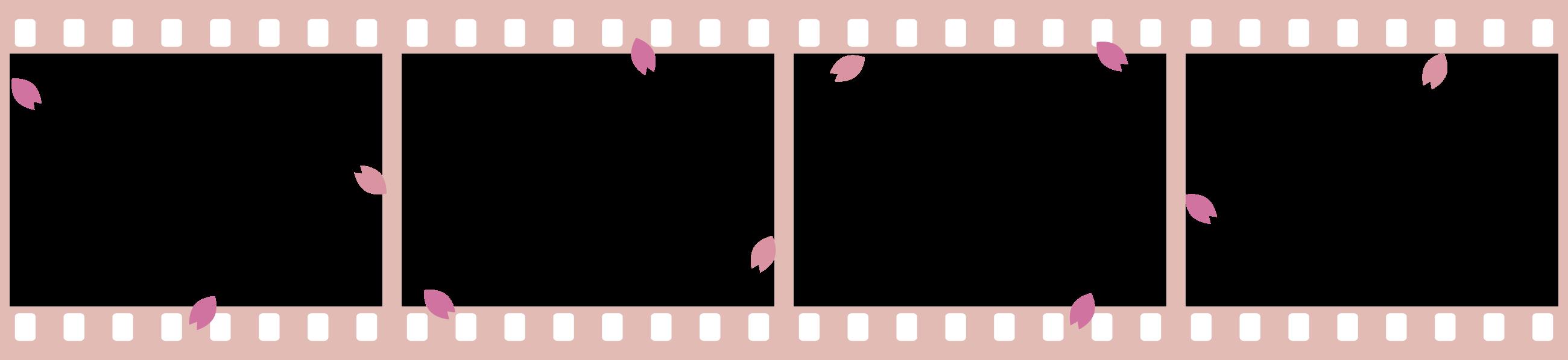 卒業アルバム卒園アルバム向け写真、自己紹介枠 / 手作り卒アルに桜舞う