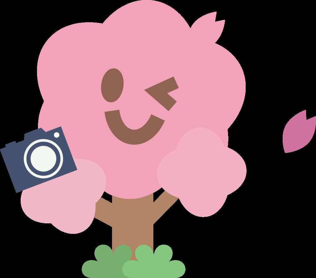 桜の木のお花見宴会イラスト / 春祭り   可愛い無料イラスト素材集