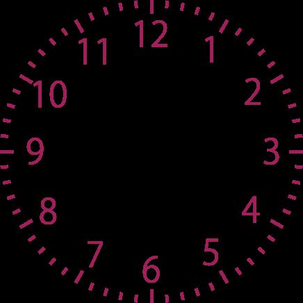 写真サイズの時計イラスト(5分刻み全て)無料で …