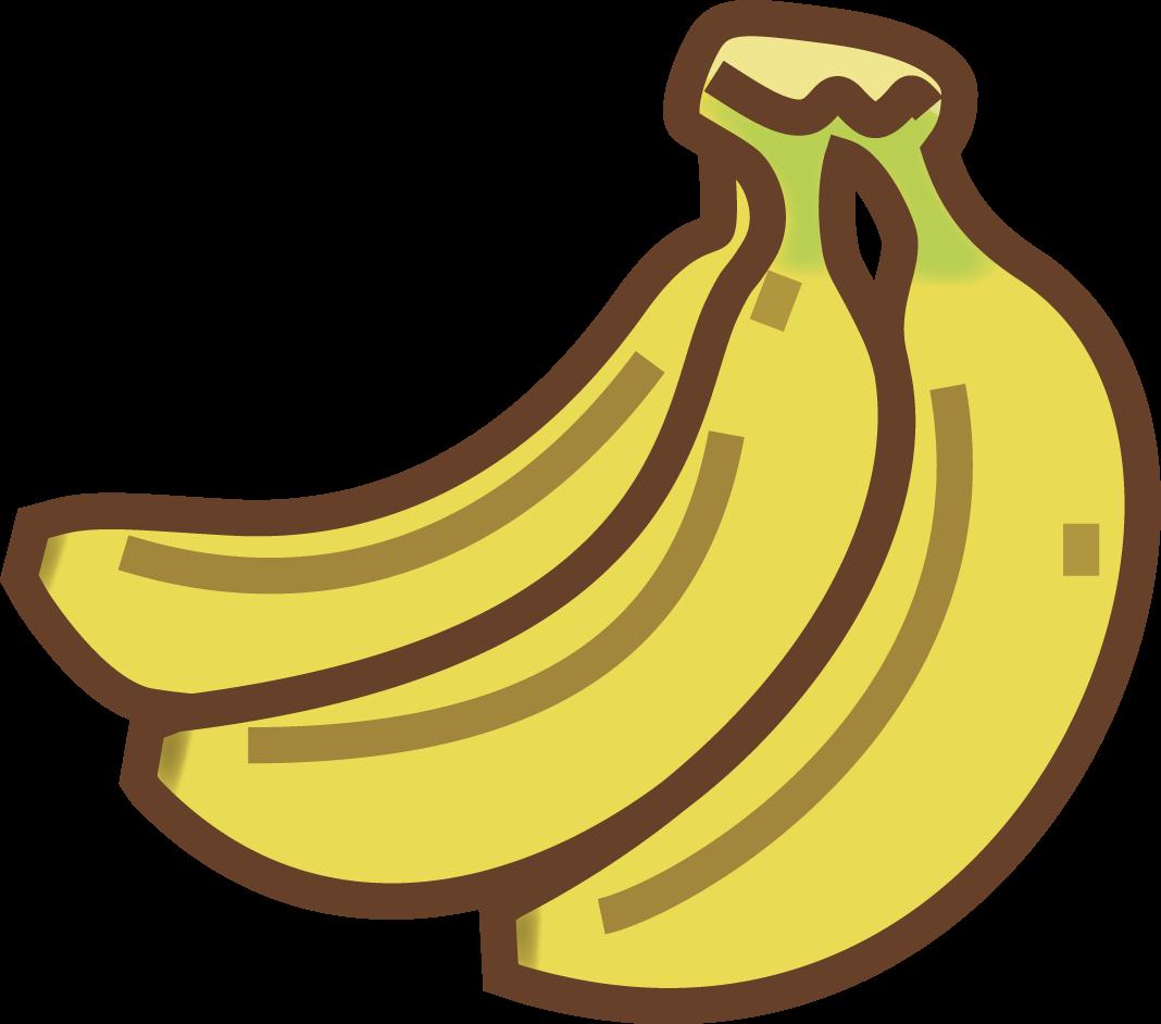 南国果物イラスト(トロピカルフルーツ)/ パイナップル・バナナ