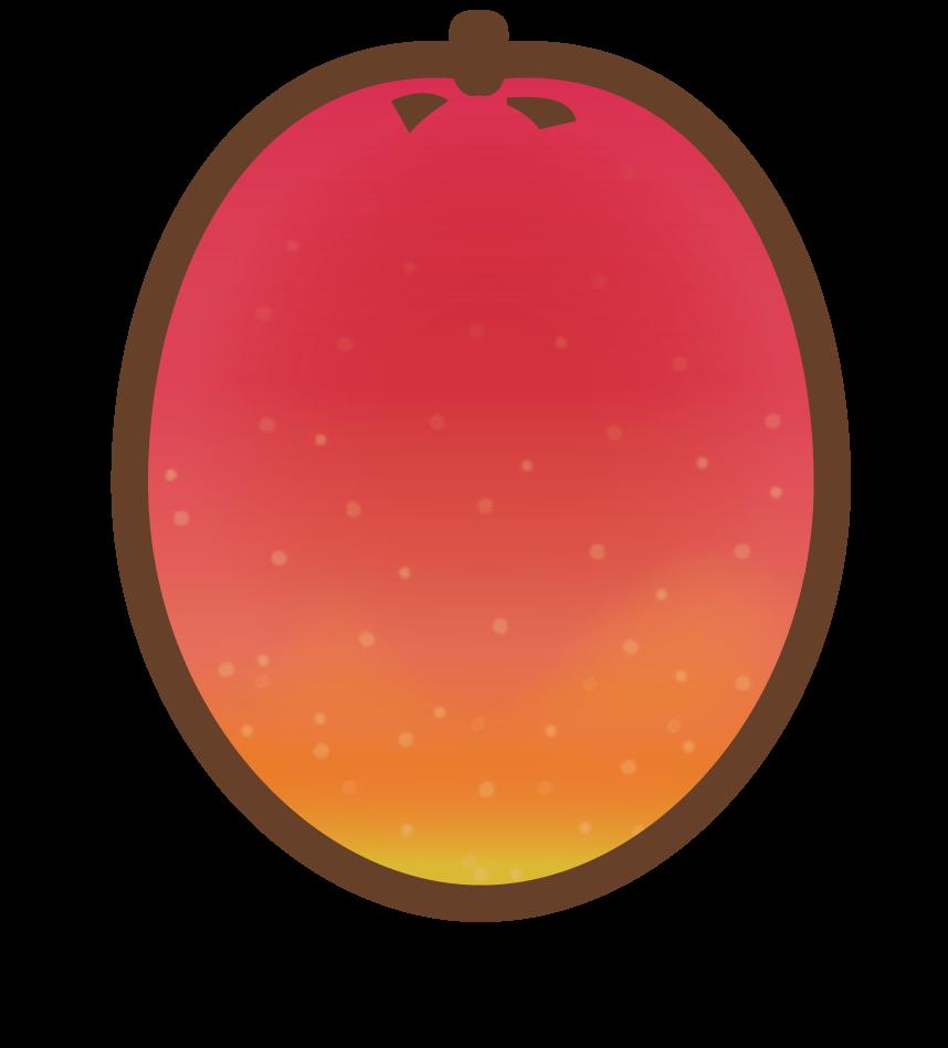 マンゴーのイラスト・カラー