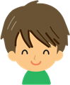 男の子の表情イラスト