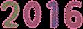 西暦2016年数字イラスト