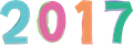西暦2017年数字イラスト