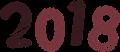西暦2018年数字イラスト