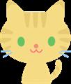 猫の表情イラスト・トラ猫