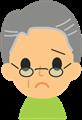 お爺さんの表情イラスト