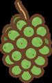 秋の旬果物イラスト