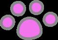 猫の足跡イラスト・薄紫