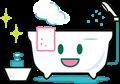ピカピカ綺麗なお風呂イラスト