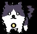 恐怖に震える黒白ぶち猫のイラスト