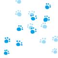 猫の足跡イラスト・水色の濃淡