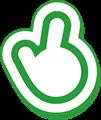 指さしマーク、クリック緑