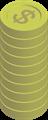 金貨コインイラスト・$マーク・タワー積み上げ