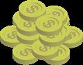 金貨コインイラスト・$マーク・ひと山盛り