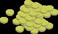 金貨コインの山イラスト