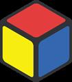 赤・青・黄色の立方体のイラスト