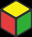 黄・緑・赤色の立方体のイラスト