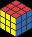 赤・青・黄色のルービックキューブのイラスト