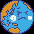 泣いてる地球のイラスト・砂漠化