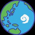 緑豊かな地球のイラスト