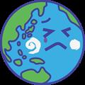 泣き顔の地球のイラスト