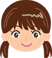 笑顔の子供のイラスト