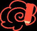 赤鉛筆の花丸マーク