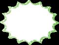 フキダシ、緑に白ドット柄パンク型