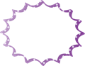 フキダシ、紫に白ドット柄パンク型
