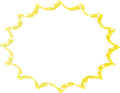 フキダシ、黄色に白ドット柄パンク型