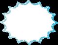 フキダシ、水色に白ドットパンク型