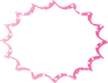 フキダシ、ピンクに白ドット柄パンク型