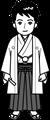 袴イラスト・白黒用