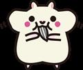 ひまわりの種を食べているホワイトのハムスターのイラスト