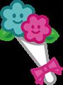 カップル花束のイラスト・カラー