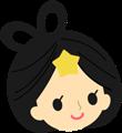 織姫と彦星の顔のイラスト