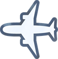飛行機イラスト・白い塗り、灰色線、クレヨン加工