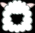 羊の被り物、角なし正面向き