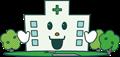 病院建物イラスト緑の木付き