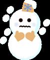 大雪・吹雪マークイラスト
