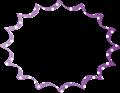 紫色に白水玉のパンクふきだし