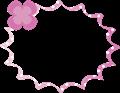 ピンクのクローバー付きのパンクふきだし