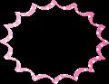 ピンクに白水玉のパンクふきだし