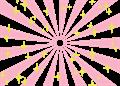 日の出風の放射背景(キラキラ付き)ピンク