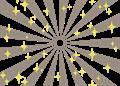 日の出風の放射背景(キラキラ付き)灰色
